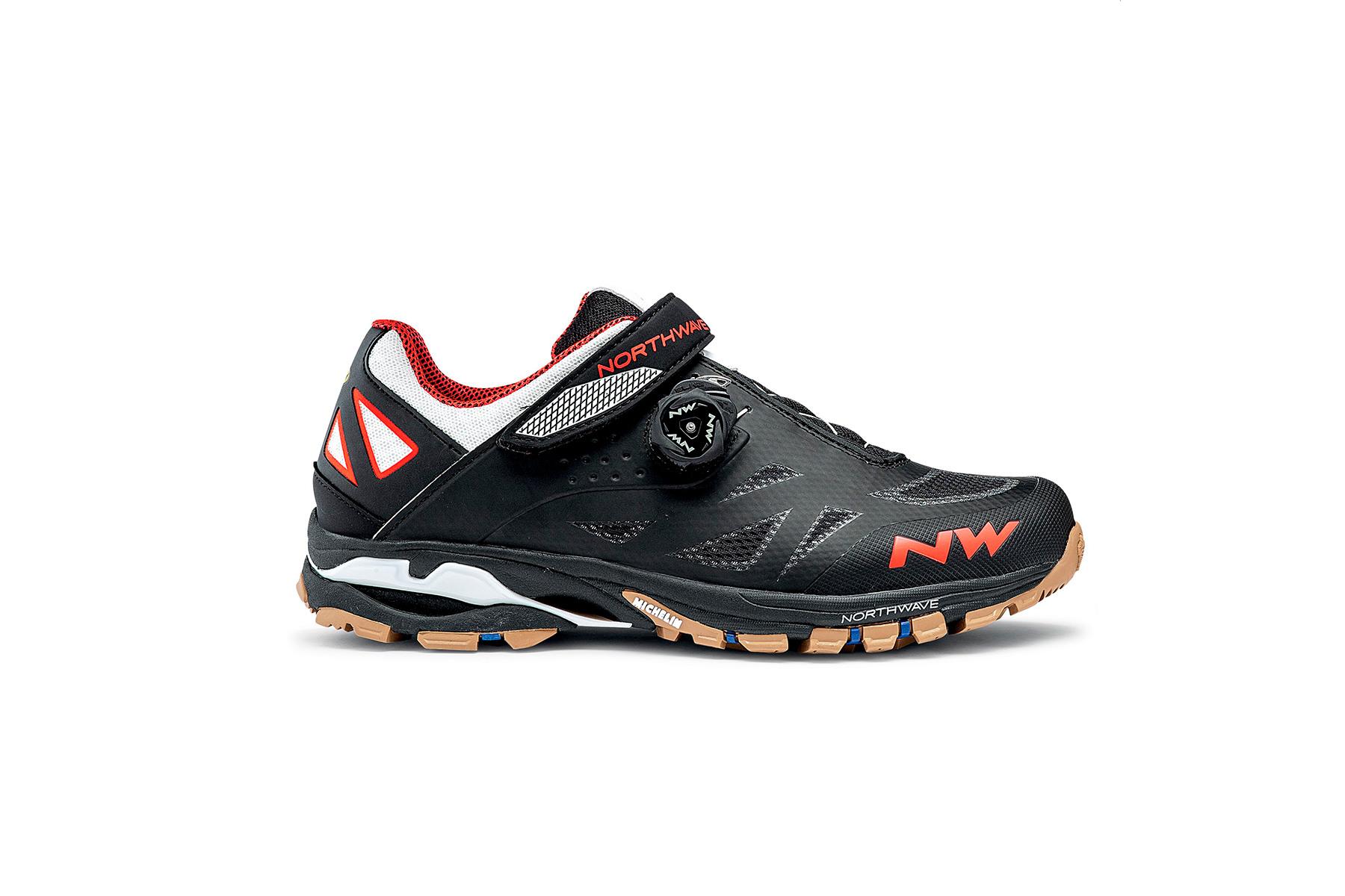 Chaussures VTT Northwave Spider Plus 2 2020 Noir Blanc Orange